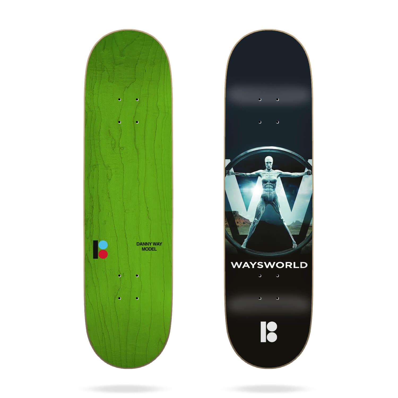 "Plan B Way Waysworld 8.25"" Deck"