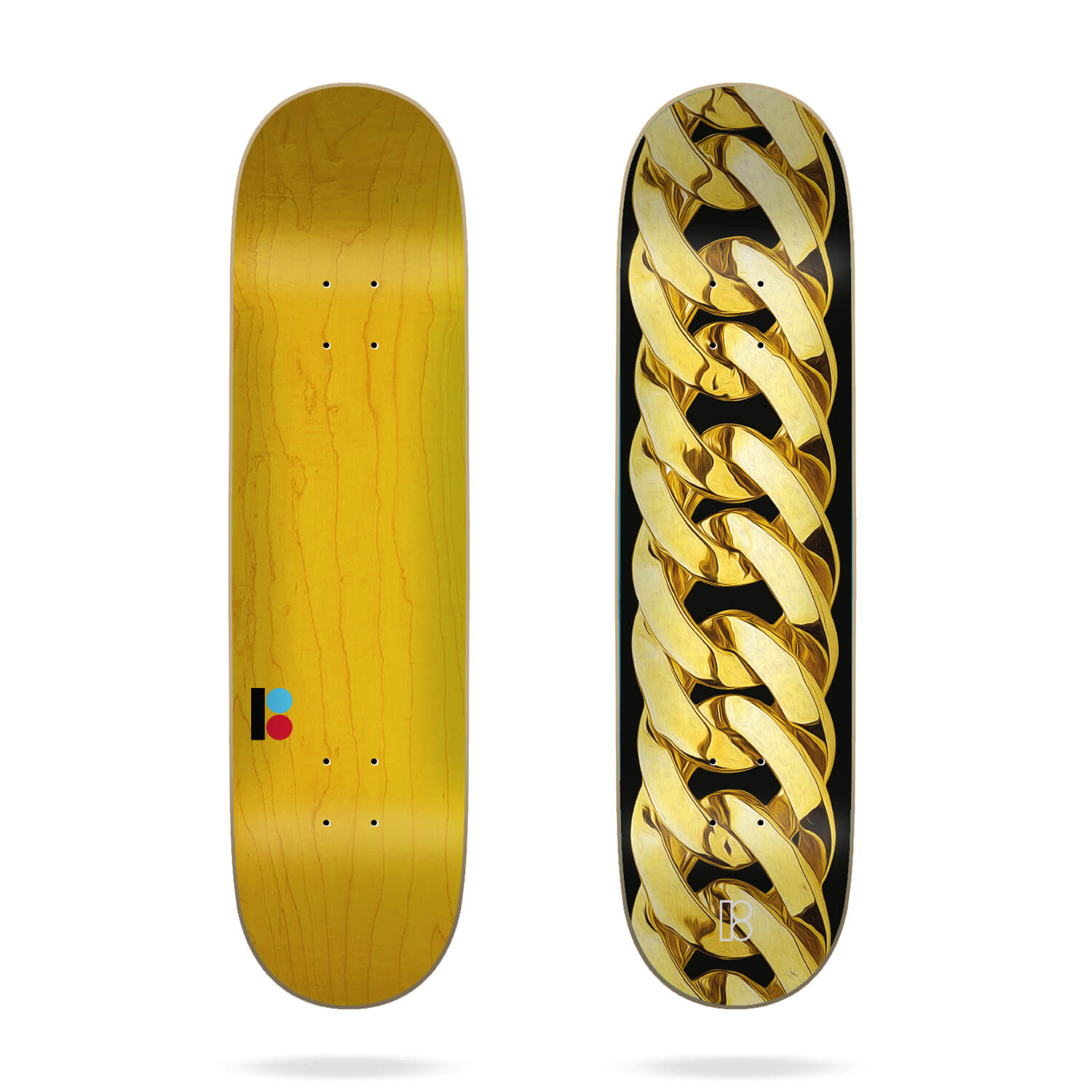 "Plan B Chain Gold 8.25"" Deck"